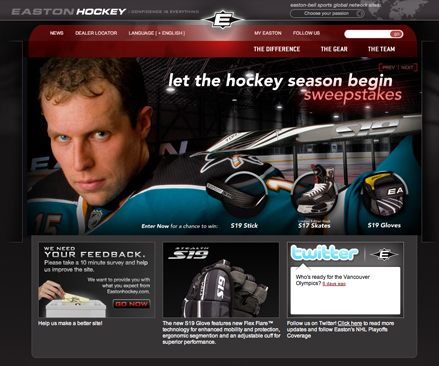 easton hockey webpage blog
